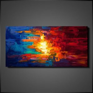 Abstrakt tavlor - Fire and Water