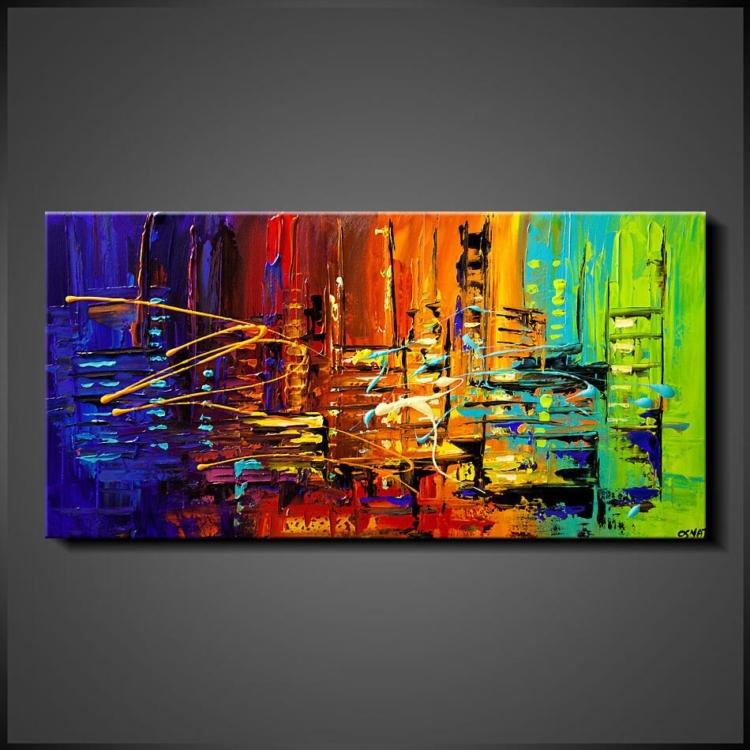 Abstrakt Tavlor - Mix My Colours