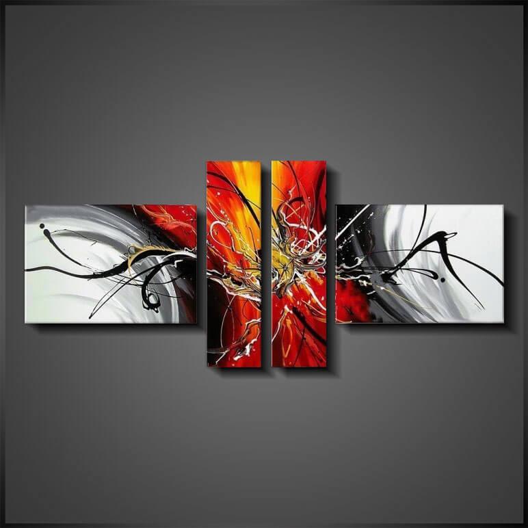 Billiga Abstrakt Tavlor - Livingroom Glory