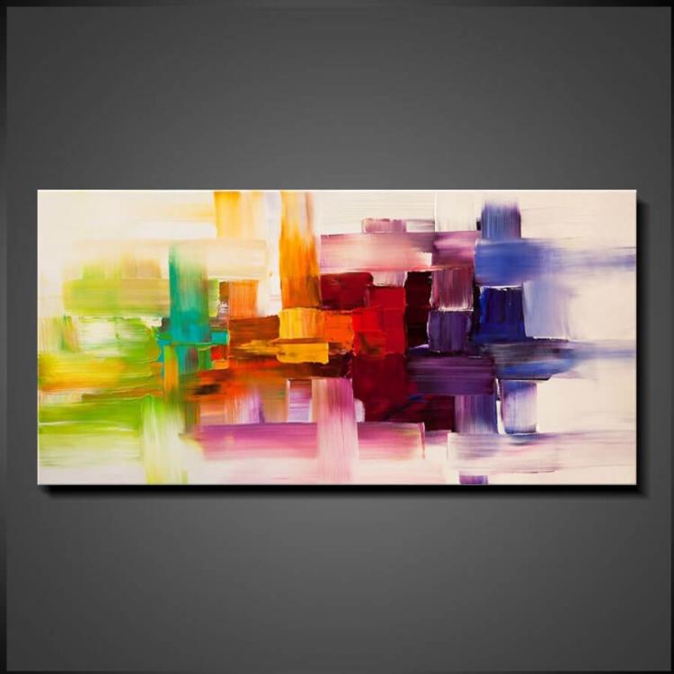 Delighted - Billiga Tavlor Abstrakt Konst