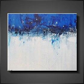 konst tavlor abstrakt Blue Day