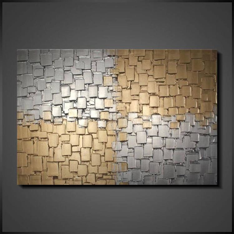 Konst Tavlor Abstrakt Brokken Mirror
