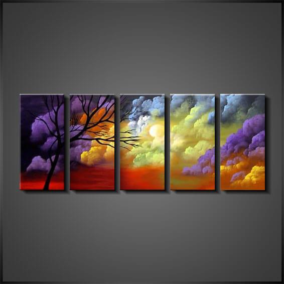 Konst Tavlor Online Oljemålningar Cloudy Nights