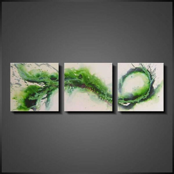 Abstrakt Tavlor - Demanding Green