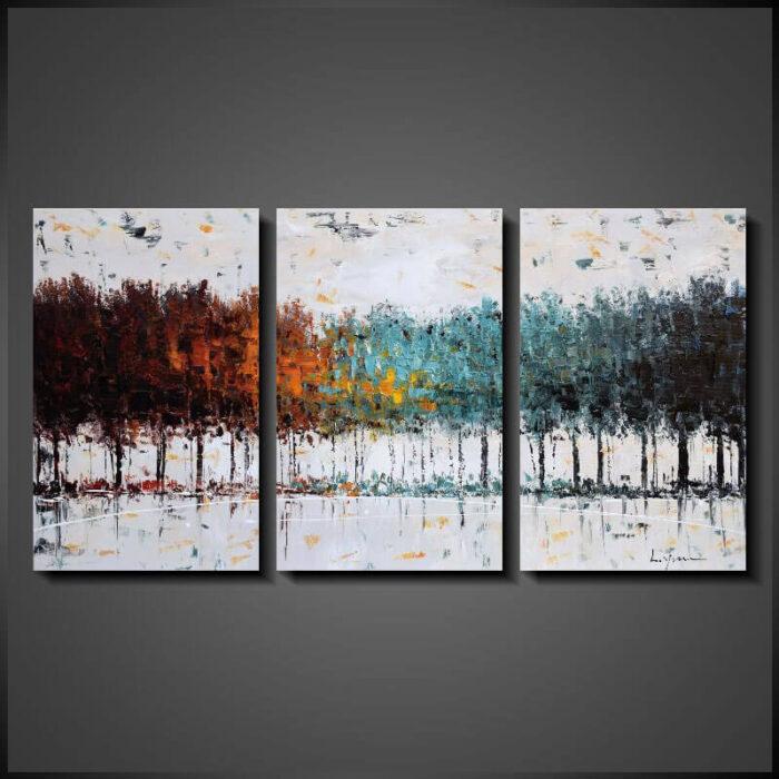 Stora Abstrakt Tavlor Målningar Calming Ground