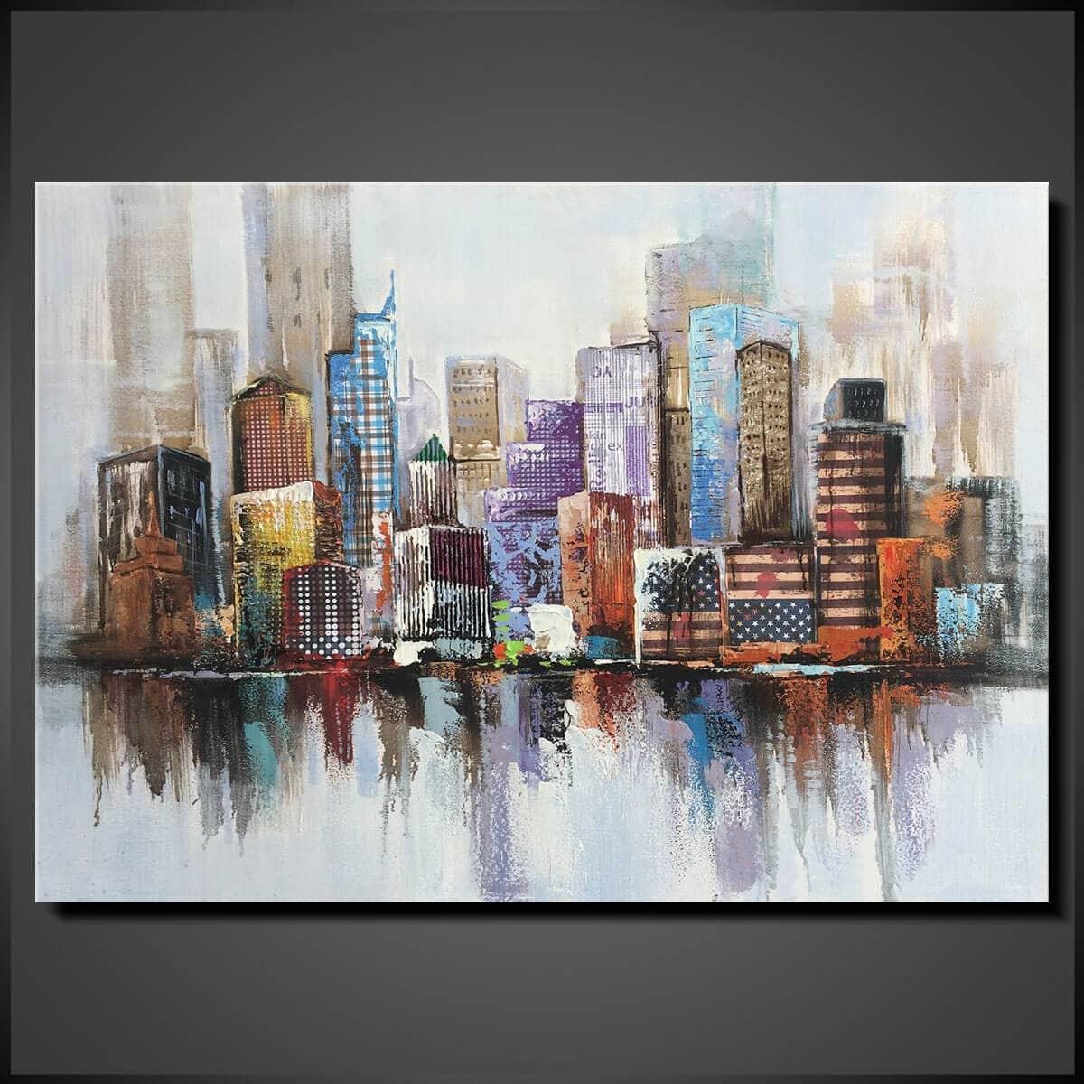 Tavlor - Oljemålning - konst - Big City