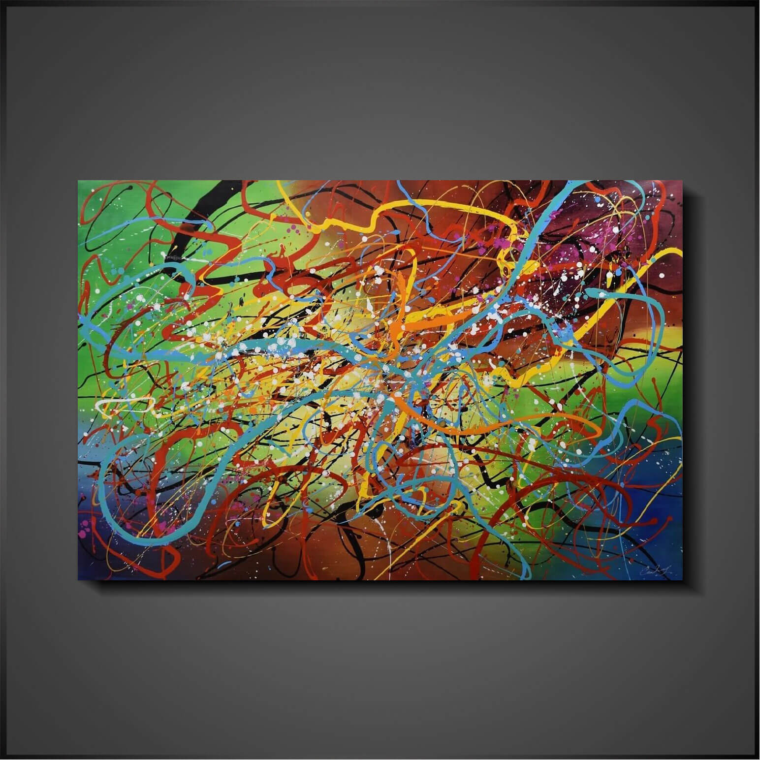 Stora Abstrakta tavlor